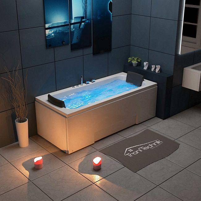 TroniTechnik Whirlpool Badewanne IOS 170cm x 75cm inkl. Spülfunktion, Hydromassage und Farblichtherapie - Bild 1