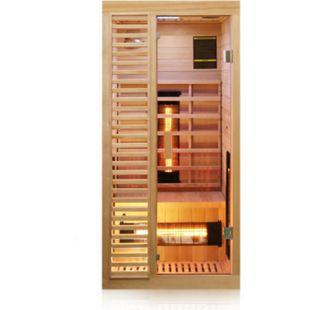 Dewello Infrarotkabine Infrarotsauna HAMLIN 90cm x 90cm inkl. Vollspektrumstrahler, Bodenstrahler - Bild 1
