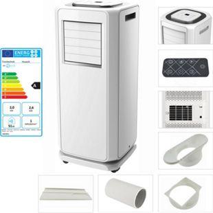 TroniTechnik mobile Klimaanlage HUSAVIK 7000 BTU inkl. Abluftschlauch, Fernbedienung und Fensterschiene - Bild 1