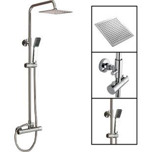 TroniTechnik Duschpaneel Duschsäule Duscharmatur  Duschset Duschsystem Edelstahl - Bild 1