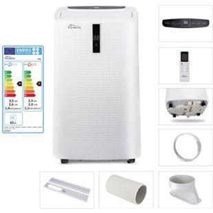 TroniTechnik HELGI 4-in-1 Klimaanlage Klimagerät Luftentfeuchter Ventilator 12.000 BTU/3,5 kW inkl. Zubehör und Fernbedienung - Bild 1