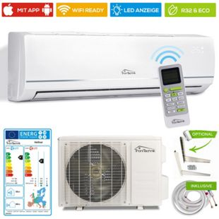 TroniTechnik Hellnar Split Klimagerät Klimaanlage mit 12000 BTU, inkl. Zubehör... inkl. Kupferleitung - Bild 1