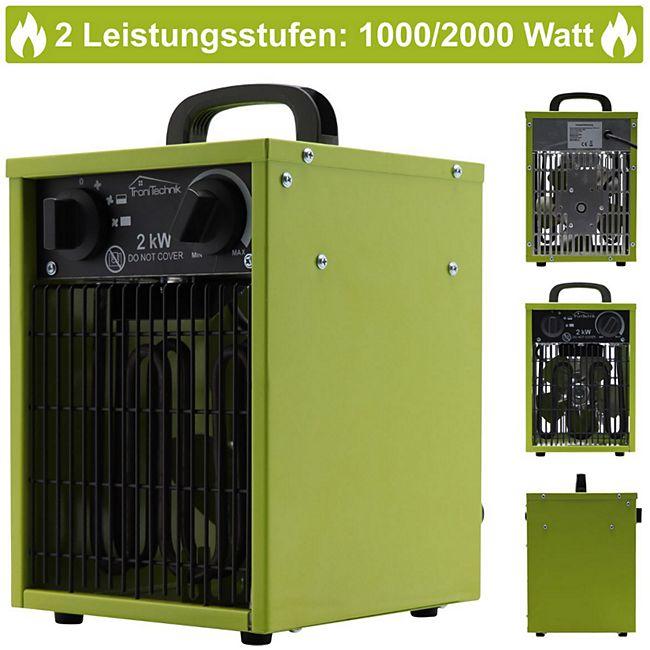 Tronitechnik TT-EIH-152 Heizgerät Heizlüfter Heizung 2.000 Watt, Tragegriff, Stahl, stufenlose Thermosteuerung - Bild 1