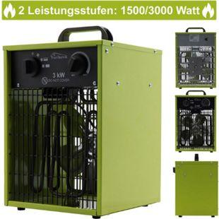 Tronitechnik TT-EIH-153 Heizgerät Heizlüfter Heizung 3.000 Watt, Tragegriff, Stahl, stufenlose Thermosteuerung - Bild 1