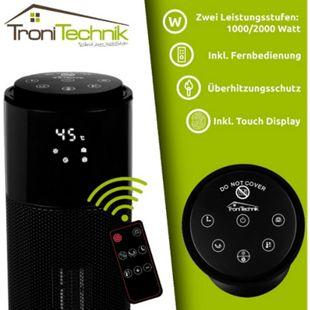 Tronitechnik Turm-Keramikheizer mit 2000 Watt, PTC Keramikheizelement TT-KH-073 - Bild 1