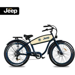 "Jeep Cruise E-Bike CR 7005, 26"" Laufräder, 7-Gang Shimano Megarange Kettenschaltung, blue - Bild 1"