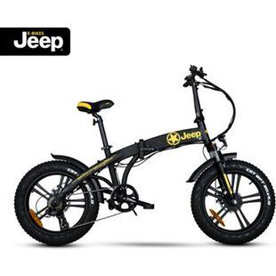 "Jeep Fold FAT E-Bike FR 7020, 20"" Kompaktrad, Falt-E-Bike, 7-Gang Kettenschaltung, black - Bild 1"