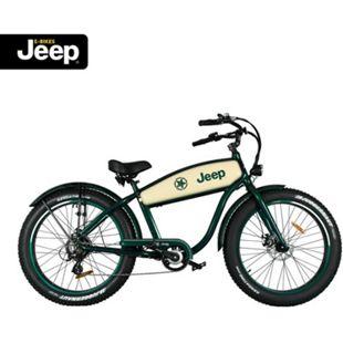 "Jeep Cruise E-Bike CR 7004, 26"" Laufräder, 7-Gang Shimano Megarange Kettenschaltung, green - Bild 1"