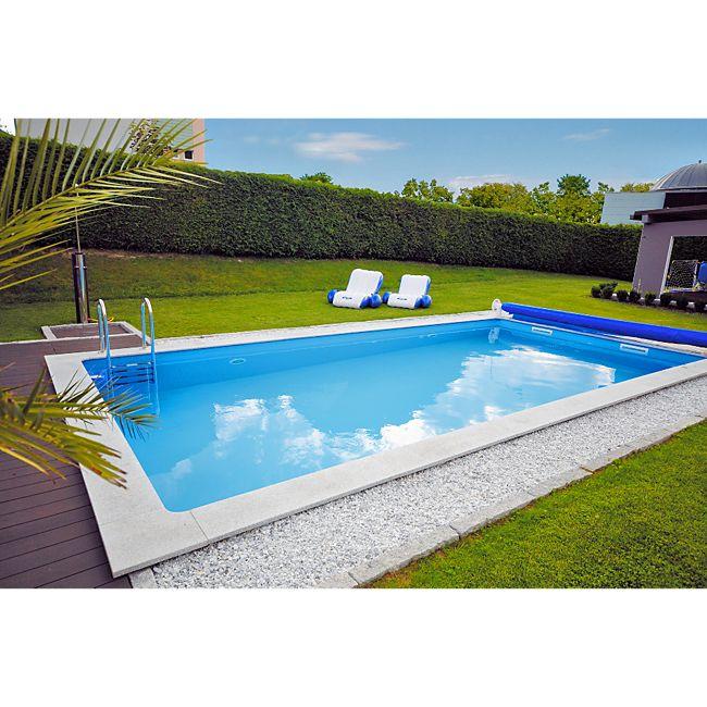 Kwad beckenset pool std 6 0x3 0x1 5m inkl leiter g nstig for Garten pool 2 5m