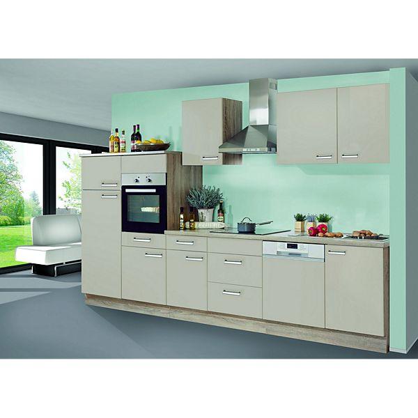 menke küchen küchenzeile saskia 340 cm sahara matt - plus.de ... - Glasabdeckung Küche Preise
