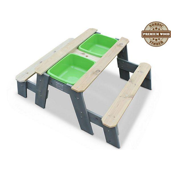 Matschtisch Holz - EXIT Aksent Sand und Wassertisch mit 2 Sitzbänken