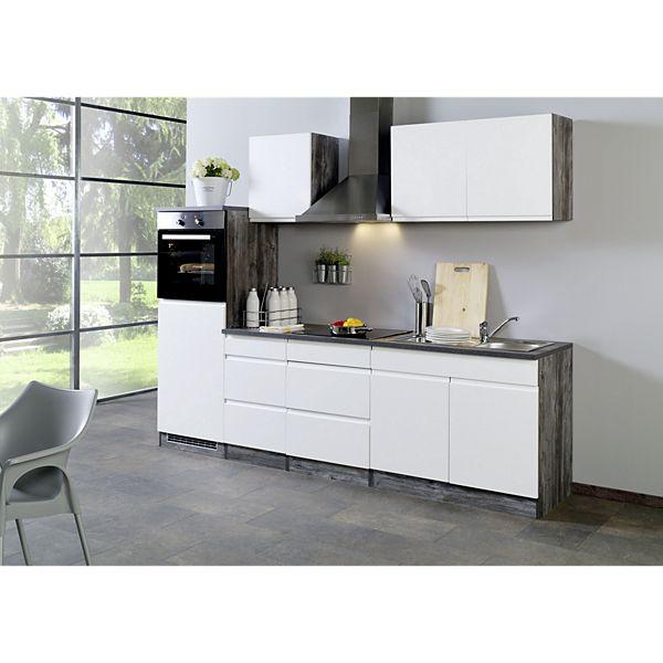 Held Möbel Küchenleerblock Cardiff 270 cm Hochglanz Weiß - Plus.de ...