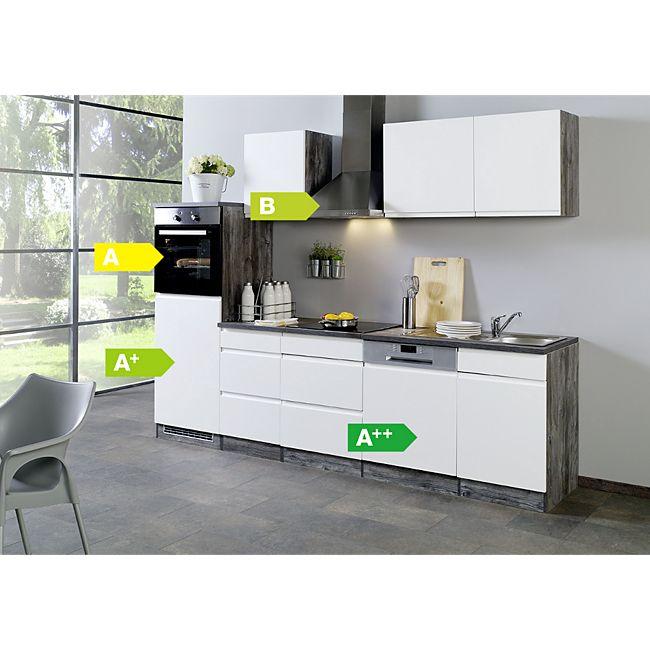 Held Möbel Küchenzeile Cardiff 280 cm Hochglanz Weiß günstig online ...