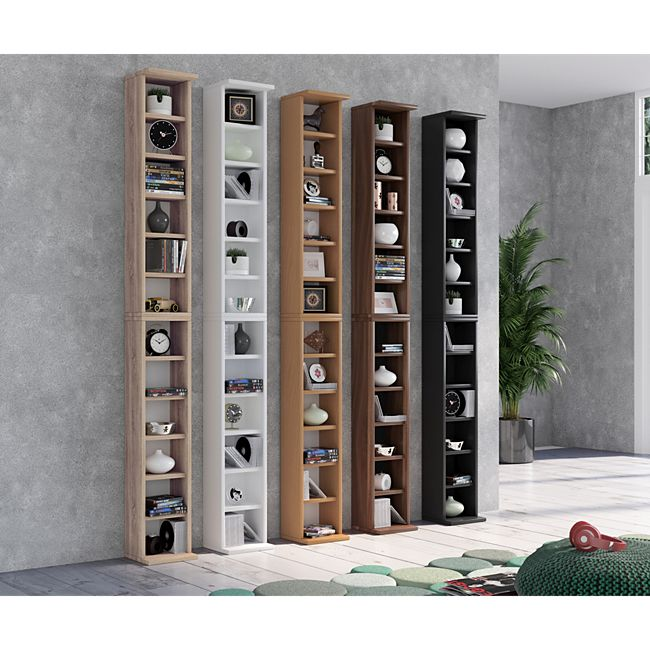 vcm regal dvd cd rack m bel aufbewahrung holzregal. Black Bedroom Furniture Sets. Home Design Ideas