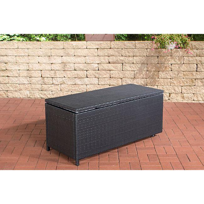 clp polyrattan aufbewahrungsbox kudde gartentruhe f r kissen und auflagen gartenbox mit. Black Bedroom Furniture Sets. Home Design Ideas