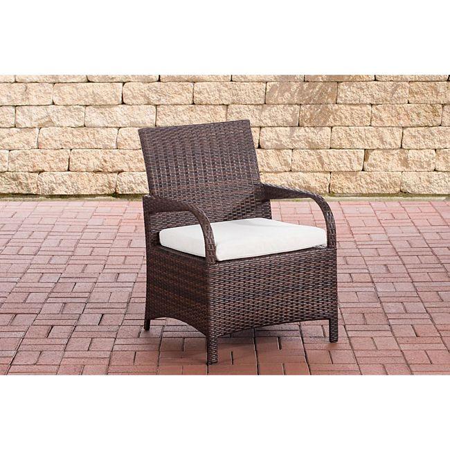 clp polyrattan gartenstuhl pizzo mit sitzkissen i outdoor stuhl mit robustem untergestell aus. Black Bedroom Furniture Sets. Home Design Ideas