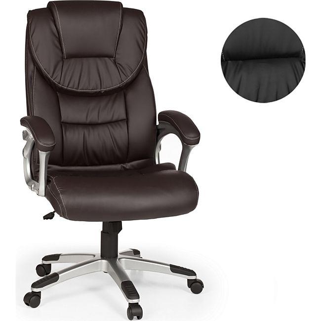 amstyle b rostuhl madrid kunstleder braun ergonomisch mit kopfst tze design chefsessel. Black Bedroom Furniture Sets. Home Design Ideas