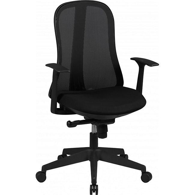 amstyle b rostuhl style stoffbezug schwarz schreibtischstuhl design chefsessel drehstuhl. Black Bedroom Furniture Sets. Home Design Ideas