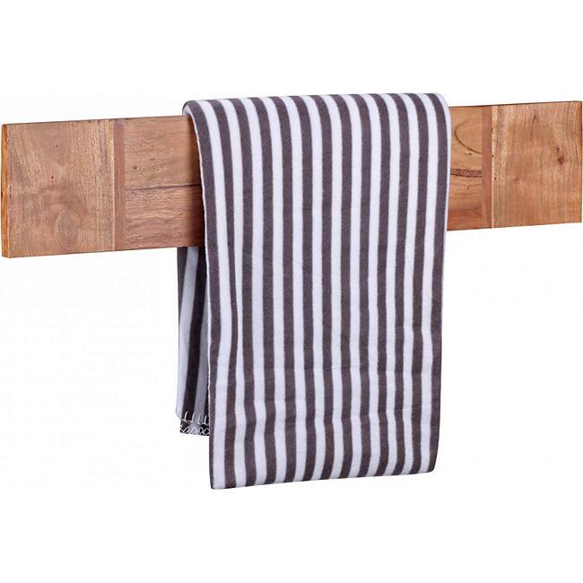 wohnling handtuchhalter mumbai massivholz akazie 80 cm wandregal landhaus stil bad zubeh r. Black Bedroom Furniture Sets. Home Design Ideas