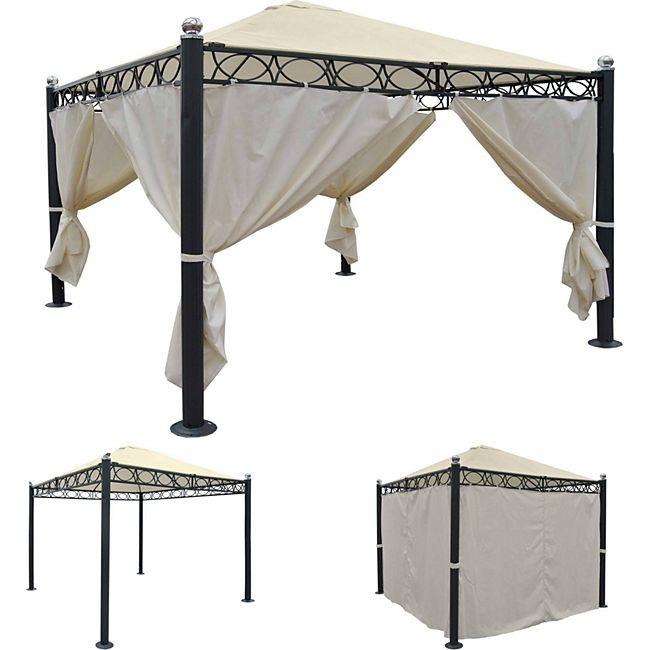 heute wohnen pergola belagua garten pavillon stabiles 10cm luxus alu gestell 3x3m g nstig. Black Bedroom Furniture Sets. Home Design Ideas