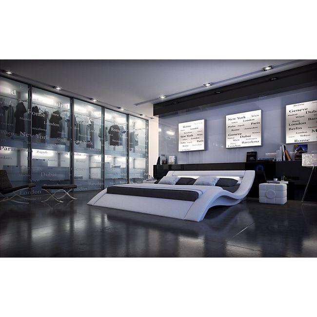 sofa dreams designerbett massa mit led beleuchtung g nstig online kaufen. Black Bedroom Furniture Sets. Home Design Ideas