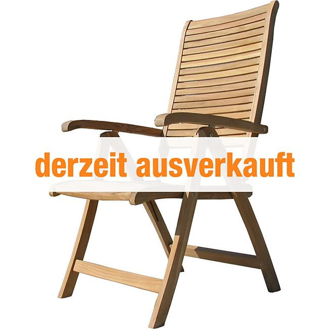 grasekamp teak sessel verstellbar gartenst hle klappstuhl teak holz gartenm bel g nstig online. Black Bedroom Furniture Sets. Home Design Ideas