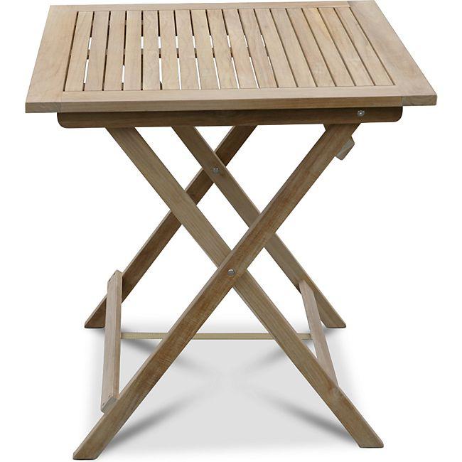 grasekamp teak tisch 70x70cm gartentische bistrotisch balkontisch gartenm bel g nstig online. Black Bedroom Furniture Sets. Home Design Ideas