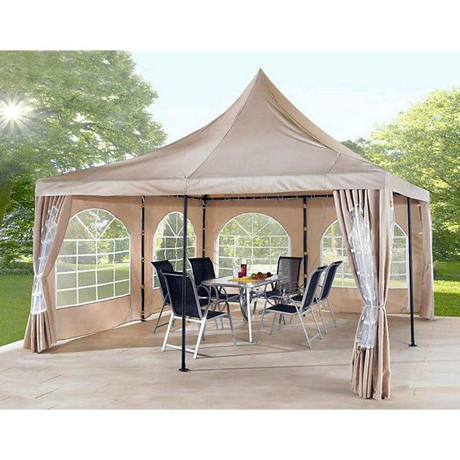 grasekamp lounge pavillon sahara 4x4m sand g nstig online kaufen. Black Bedroom Furniture Sets. Home Design Ideas
