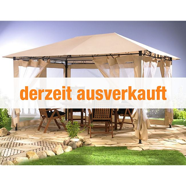 grasekamp gartenpavillon antik pavillon partyzelt 3x4m sand g nstig online kaufen. Black Bedroom Furniture Sets. Home Design Ideas