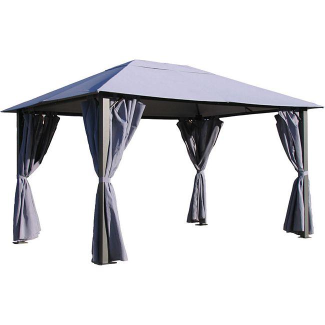 grasekamp 4 seitenteile zu pavillon paris 3x4m platingrau g nstig online kaufen. Black Bedroom Furniture Sets. Home Design Ideas