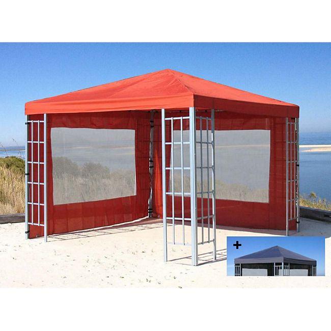 grasekamp aluoptik pavillon set 3x3m terrakotta mit austauschdach g nstig online kaufen. Black Bedroom Furniture Sets. Home Design Ideas