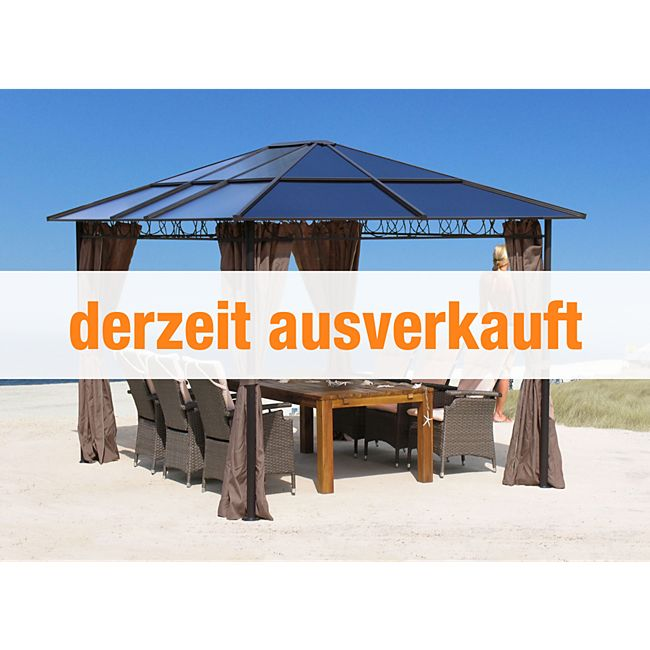 grasekamp hardtop pavillon 3x3 6m doppelstegplatten polycarbonat g nstig online kaufen. Black Bedroom Furniture Sets. Home Design Ideas