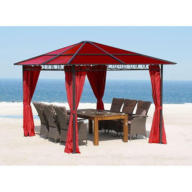 grasekamp hardtop pavillon 3x3m rubin doppelstegplatten polycarbonat g nstig online kaufen. Black Bedroom Furniture Sets. Home Design Ideas