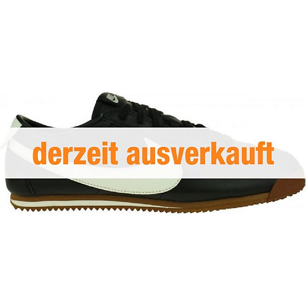 Nike Cortez Classic Og Leather Sneaker Lifestyle Schuhe Schwarz