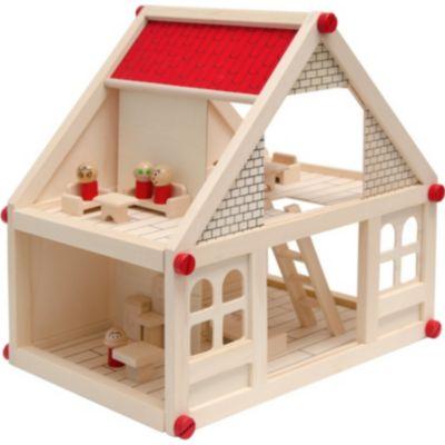 Möbel Plus De puppenhaus aus holz koala mit 4 figuren und möbel plus de
