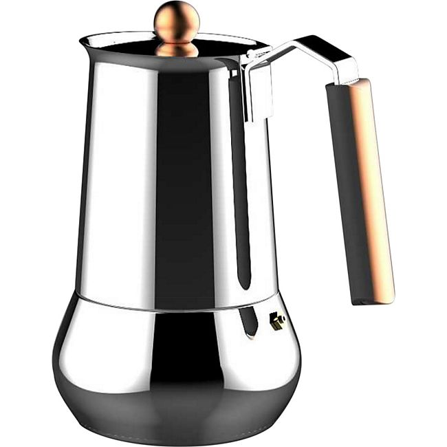 infinity chefs edelstahl espressokocher 6 tassen espresso kaffee kocher kanne g nstig online. Black Bedroom Furniture Sets. Home Design Ideas
