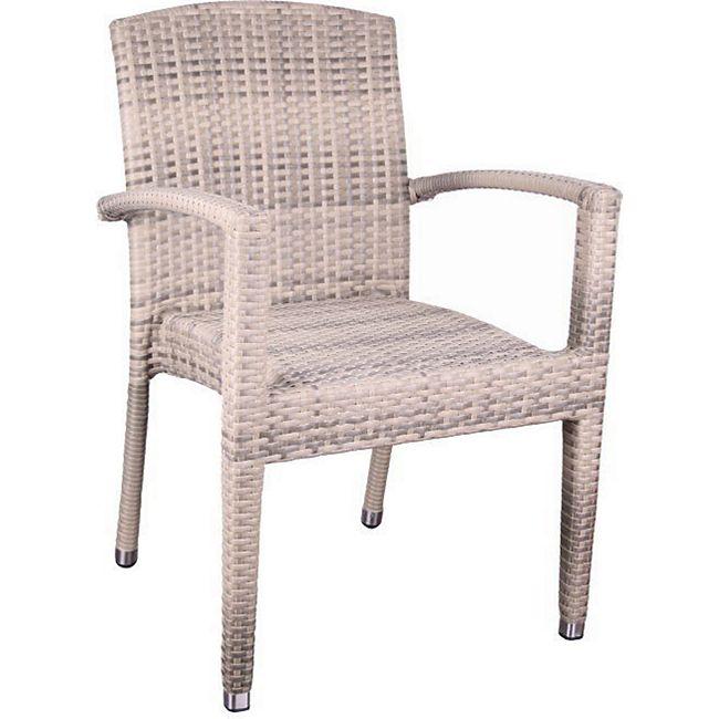 01b95a2930cb34 Premium Rattan Garten Sessel elfenbein Stuhl Stapelstuhl Stühle Gastro  Möbel günstig online kaufen
