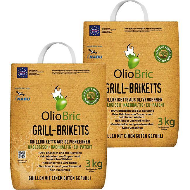 oliobric olivenkern grill briketts 6 kg g nstig online kaufen. Black Bedroom Furniture Sets. Home Design Ideas