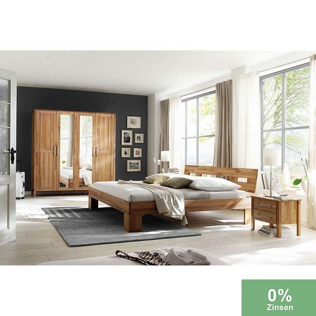 Schlafzimmer Komplett Kernbuche massiv günstig online kaufen | Plus.de