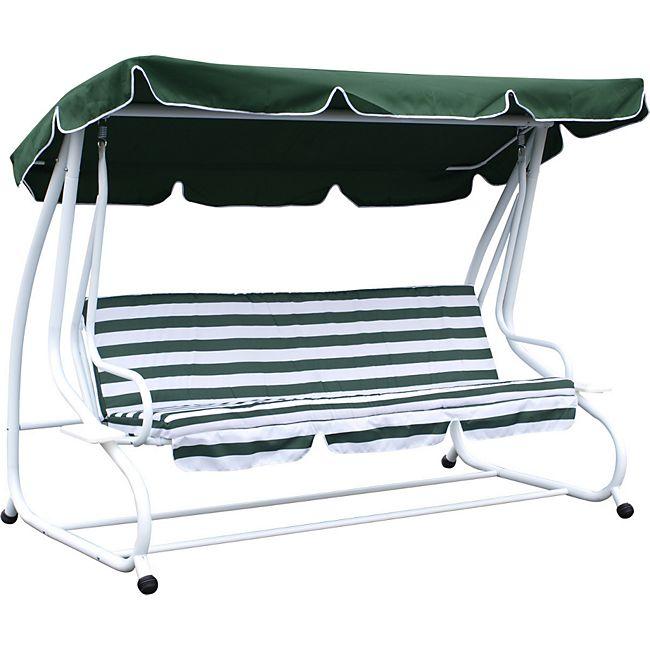 degamo hollywoodschaukel miami 4 sitzer weiss gr n mit liegefunktion g nstig online kaufen. Black Bedroom Furniture Sets. Home Design Ideas