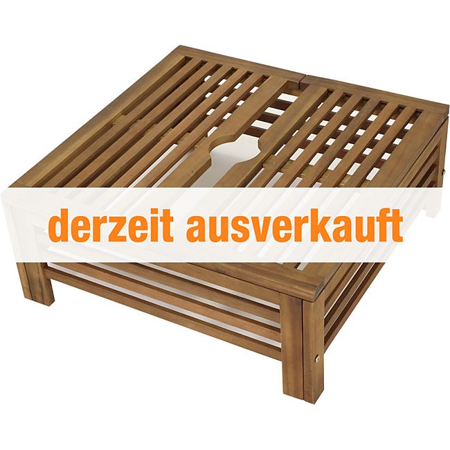 gartenmoebel einkauf abdeckung f r schirmst nder aus akazienholz 62x62cm g nstig online kaufen. Black Bedroom Furniture Sets. Home Design Ideas