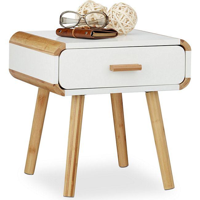 relaxdays nachttisch mit schublade g nstig online kaufen. Black Bedroom Furniture Sets. Home Design Ideas