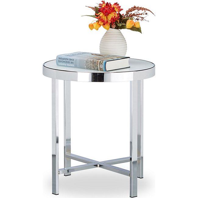 relaxdays kaffeetisch glas milchglas g nstig online kaufen. Black Bedroom Furniture Sets. Home Design Ideas