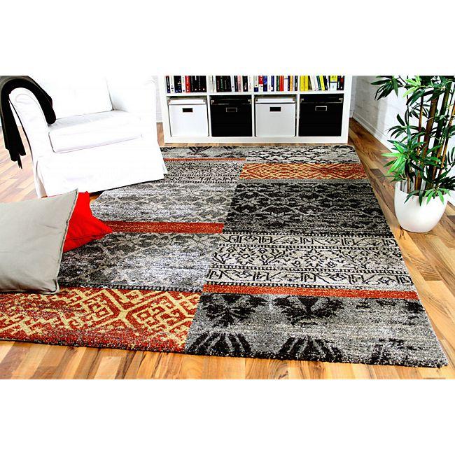 designer gabbeh teppich vintage patchwork grau 120x170 cm g nstig online kaufen. Black Bedroom Furniture Sets. Home Design Ideas