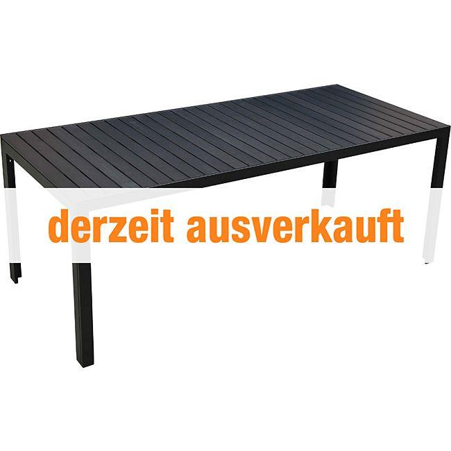 outsunny gartentisch mit aluminium rahmen g nstig online kaufen. Black Bedroom Furniture Sets. Home Design Ideas