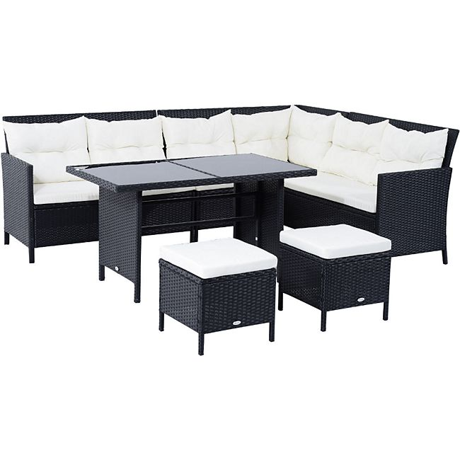 polyrattan sitzgruppe als 18 teiliges set g nstig online kaufen. Black Bedroom Furniture Sets. Home Design Ideas