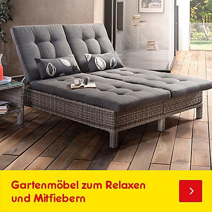 Gartenmöbel zum Relaxen und Mitfiebern!