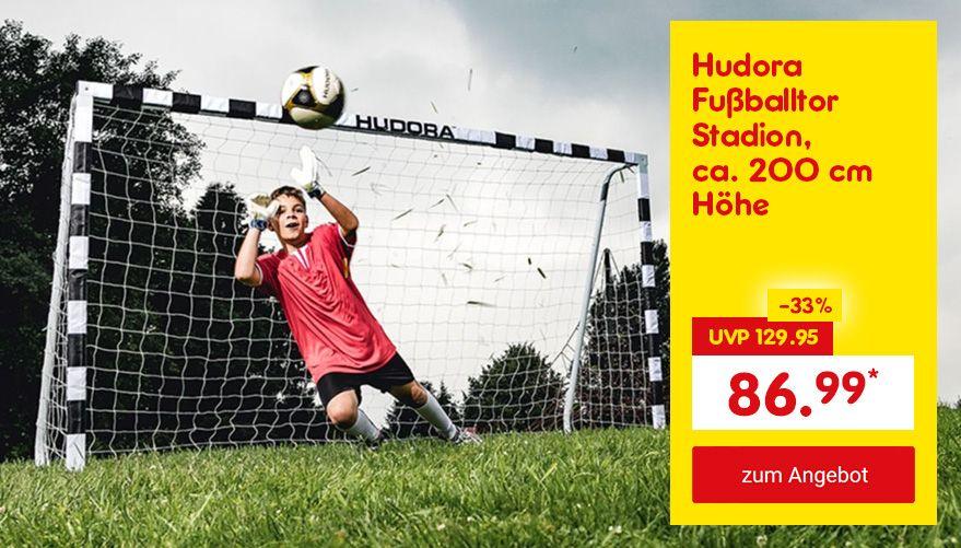 Unser Angebot zur WM: Hudora Fußballtor Stadion, ca. 200 cm Höhe, für nur 86.99 €*