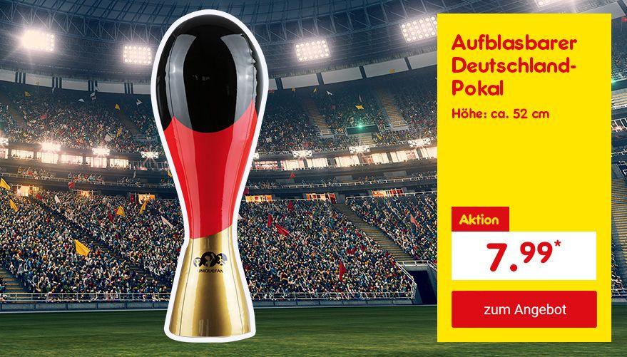 Unser Angebot zur WM: Pokal Deutschland 52cm schwarz/rot/gold aufblasbar, für nur 7.99 €*