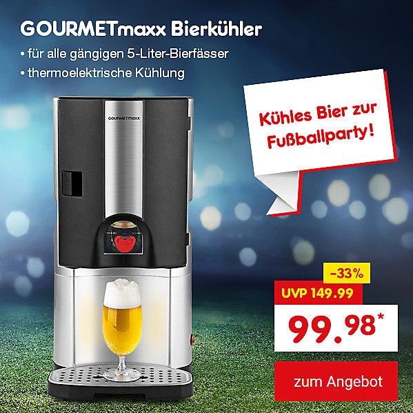 Unser Angebot zur WM: GOURMETmaxx Bierkühler, für nur 99.98 €*